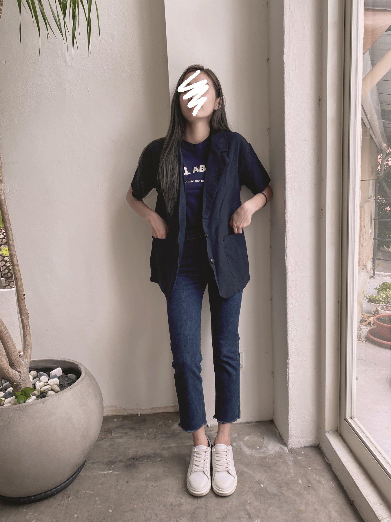 夏季麻質短袖西裝外套 / 3 colors