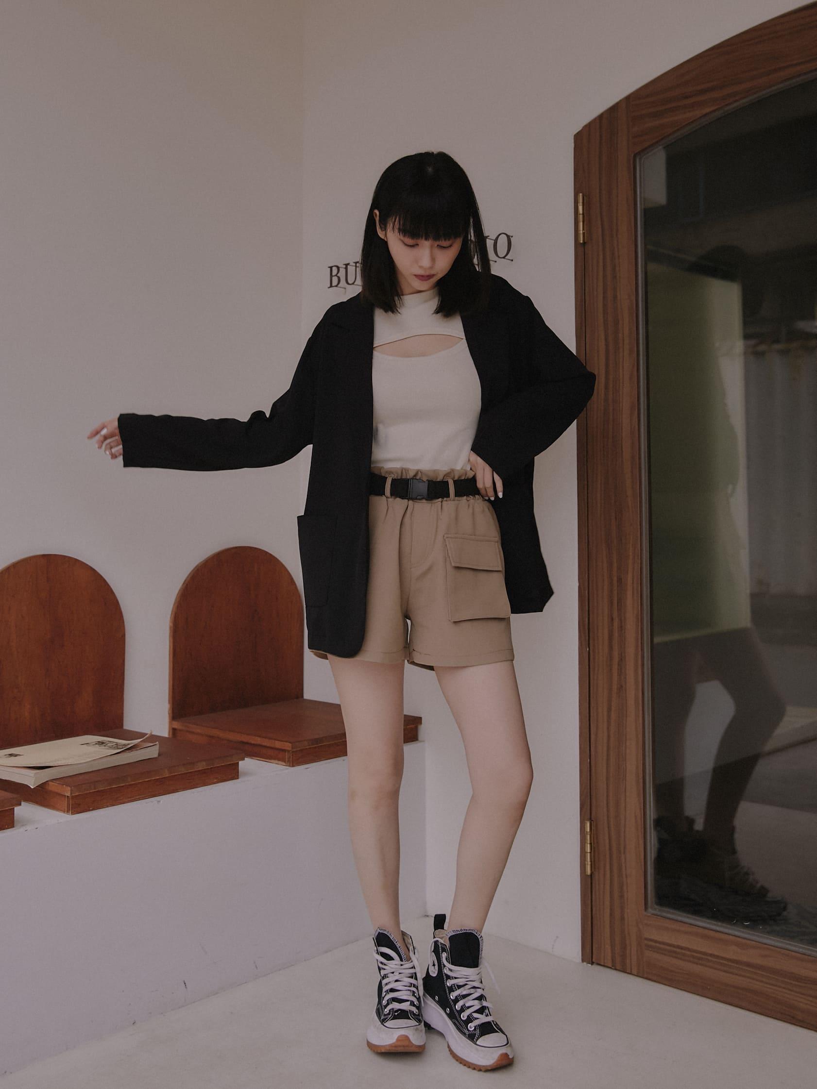 薄質單釦西裝外套