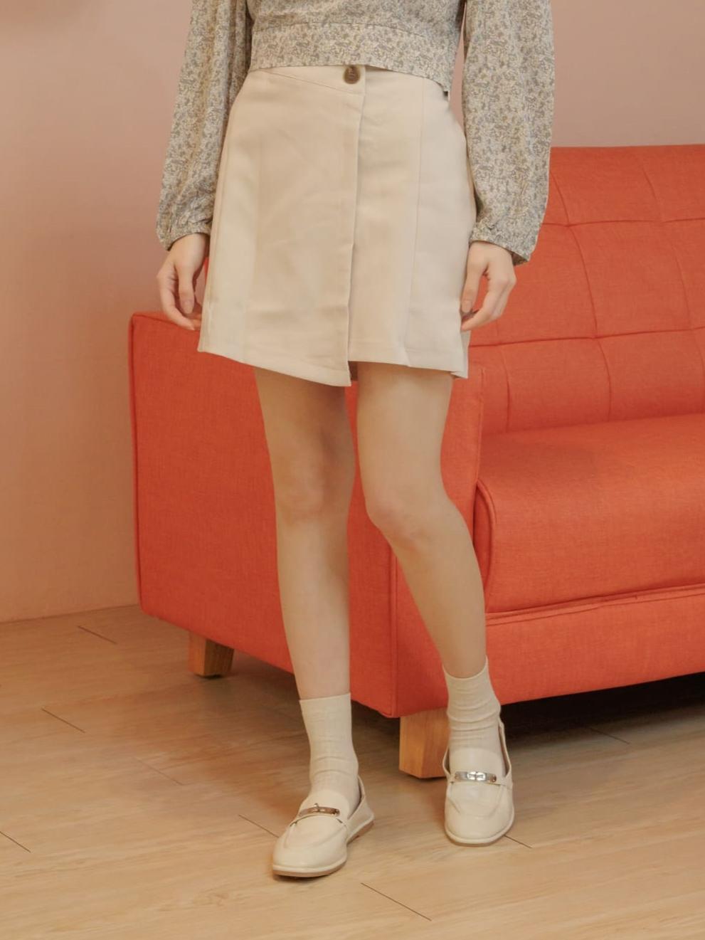 早秋單釦一片裙 / 3 colors