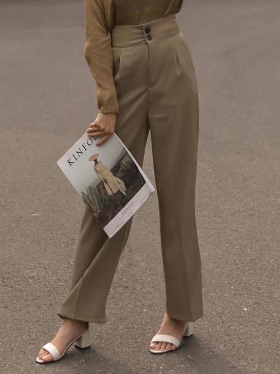 兩釦折線西裝寛褲 / 4colors 限量販售