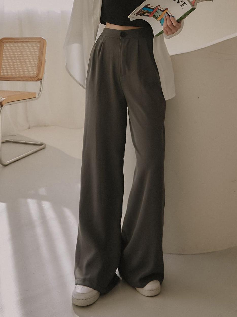 多色寬版西裝褲