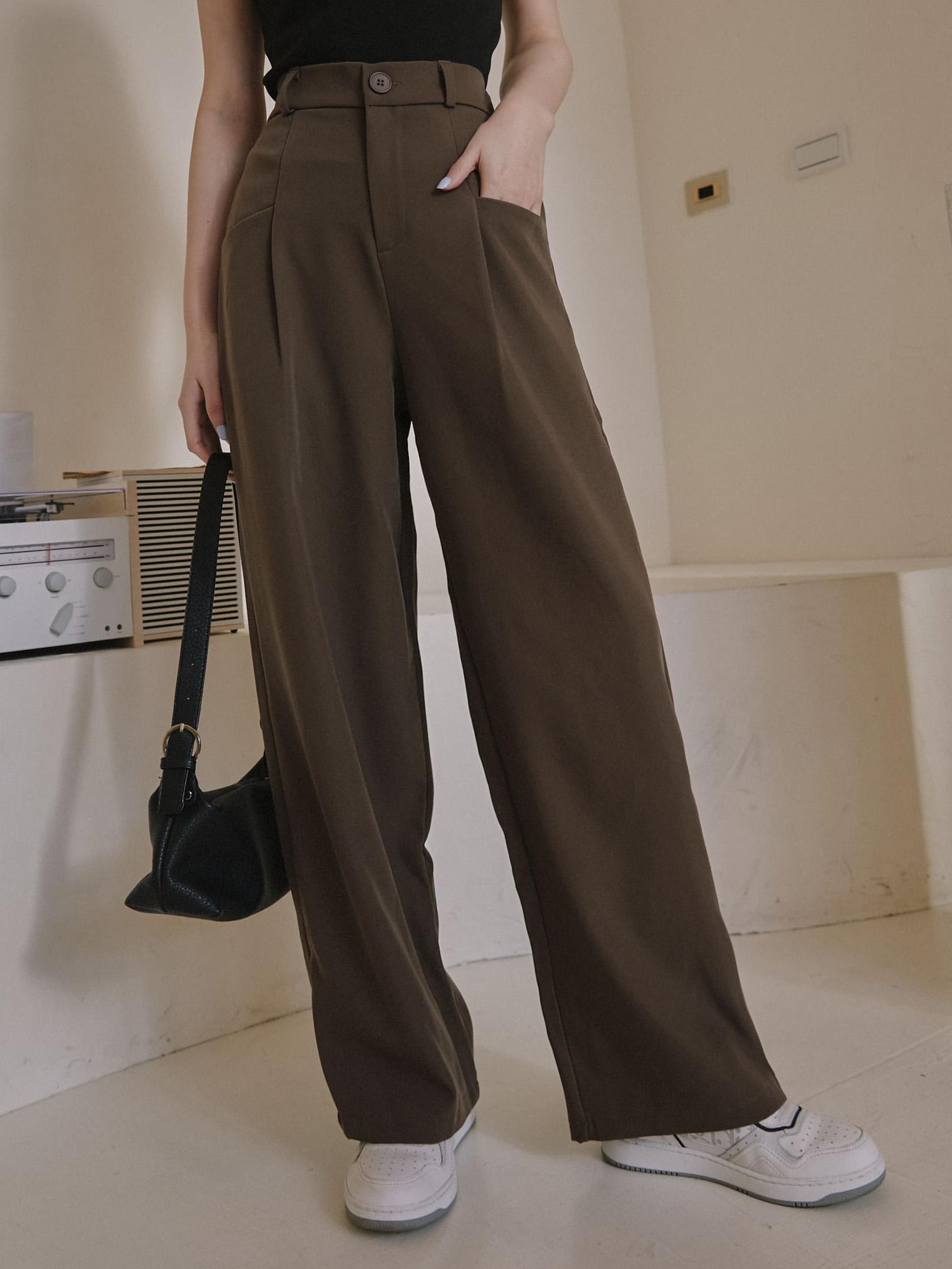 平口袋長腿歐尼西裝褲