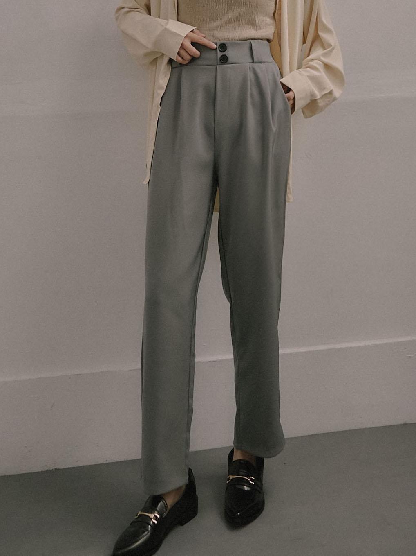 時尚兩釦哈倫西裝褲