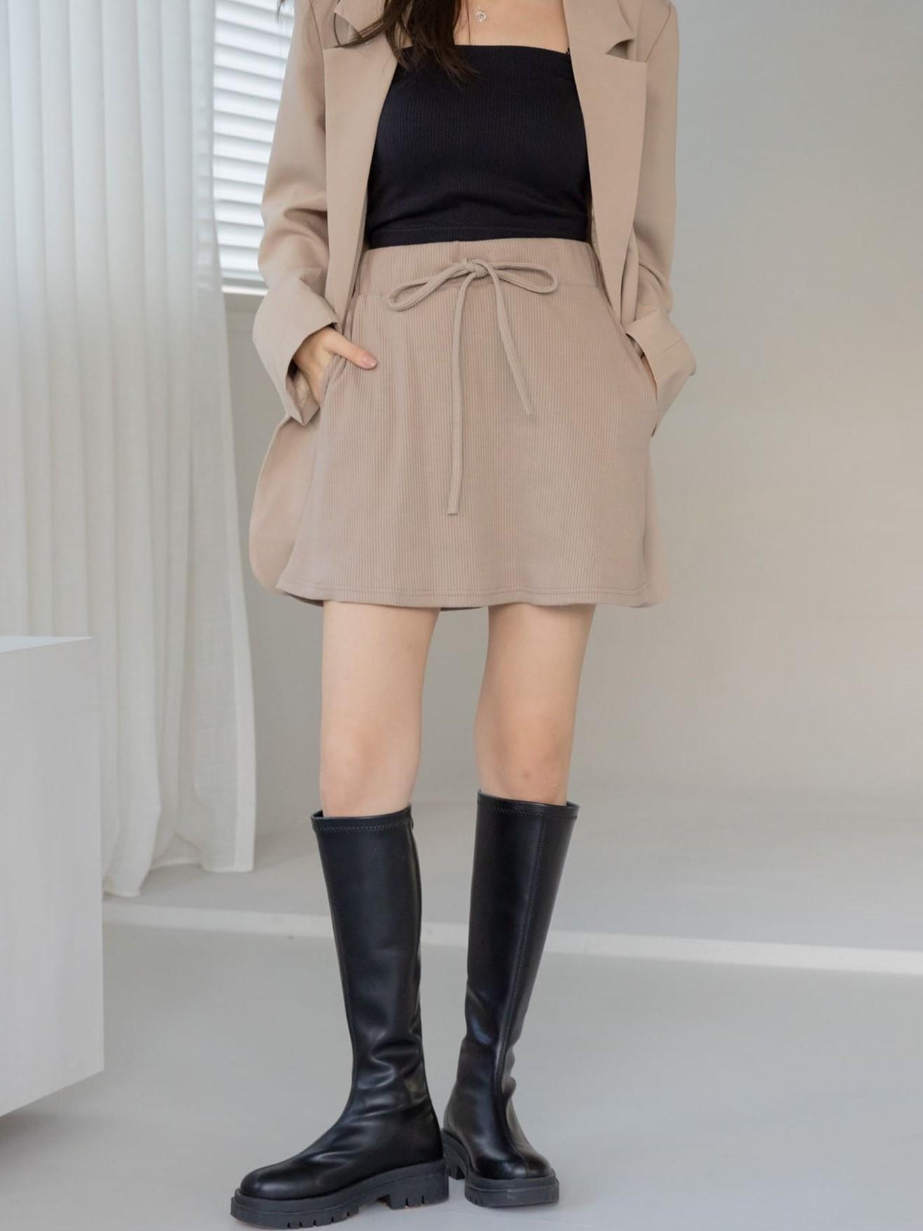 自訂款-舒適坑條短裙