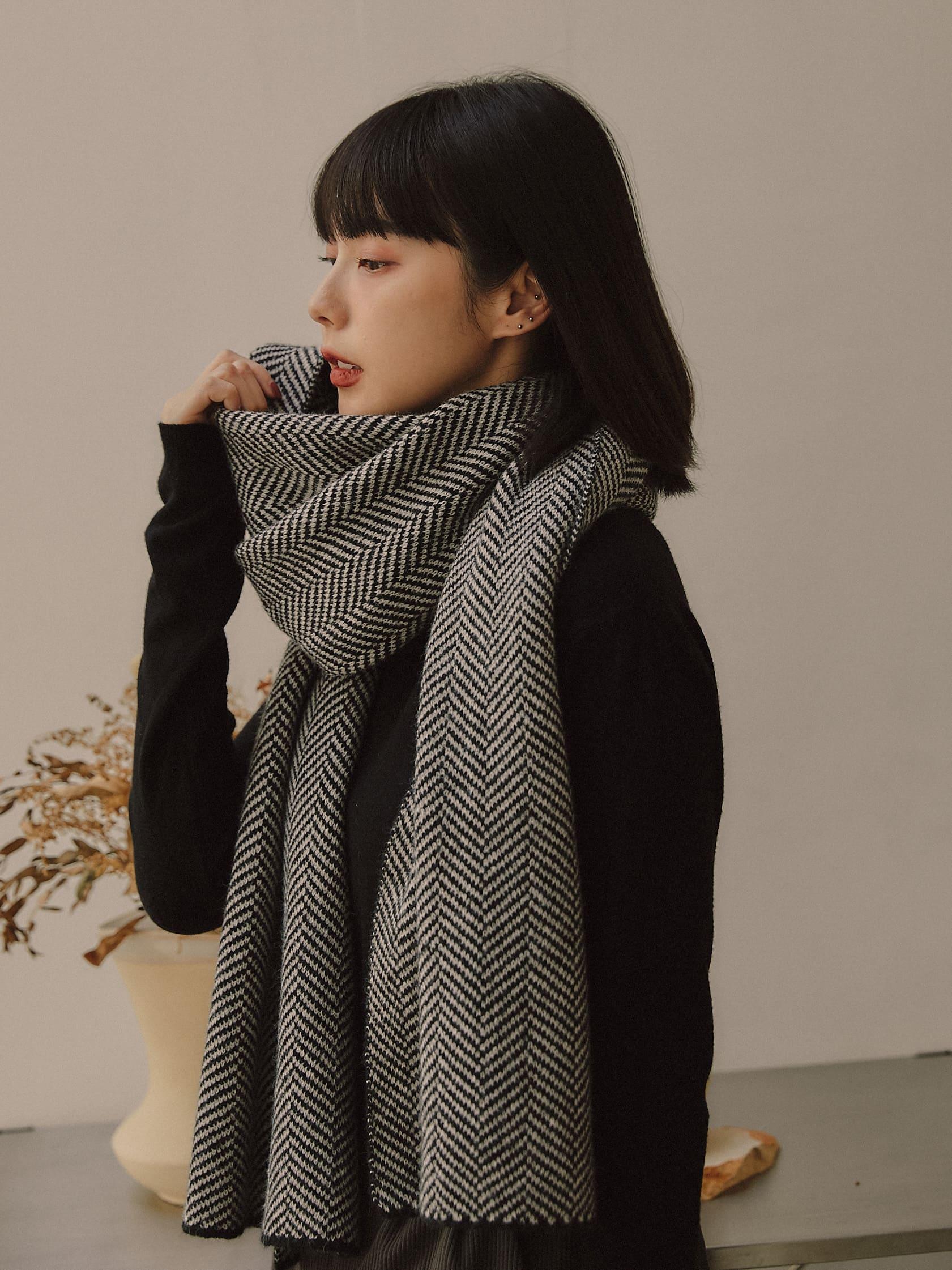 斜紋彈性圍巾