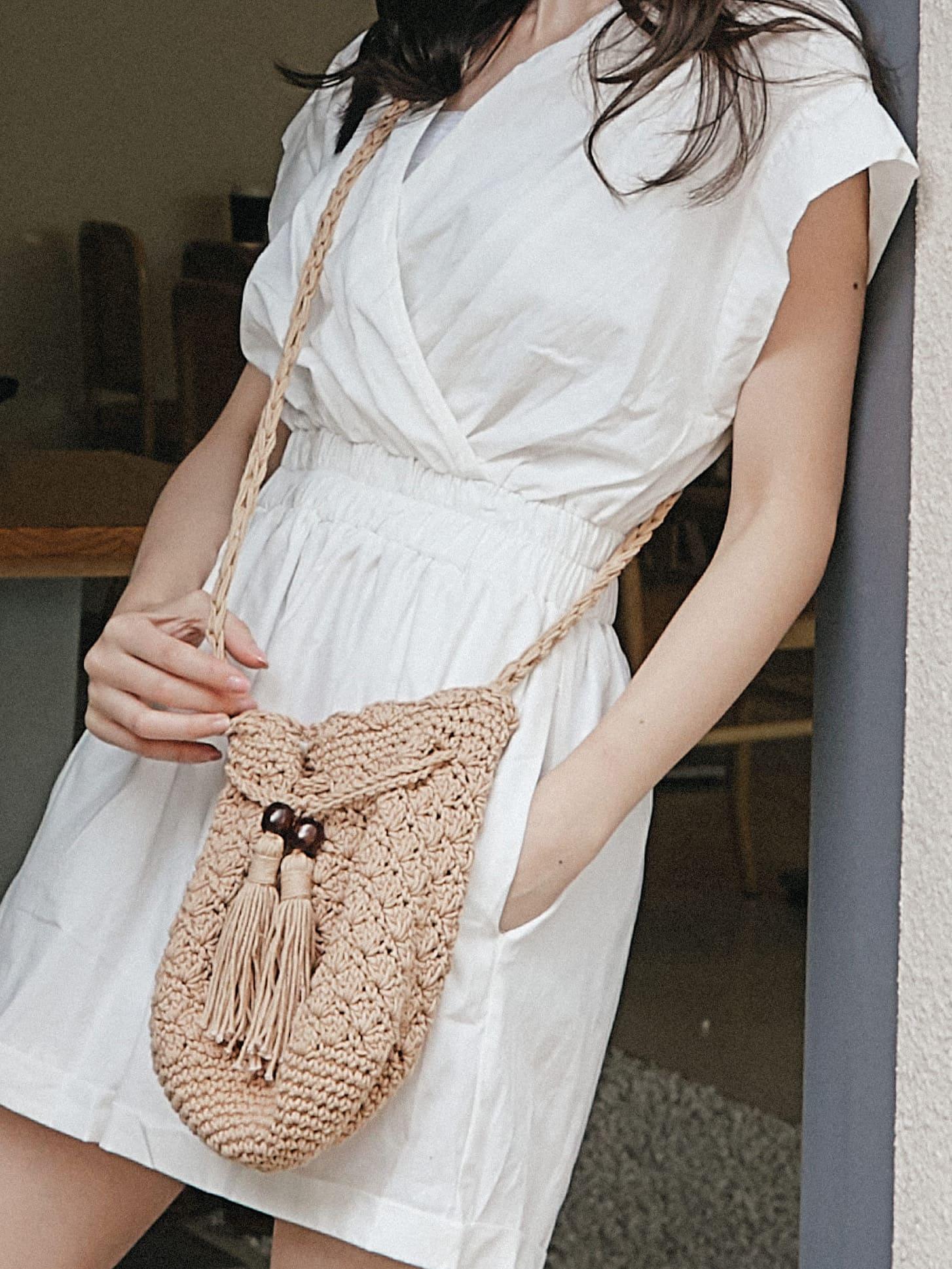 夏日隨性編織包