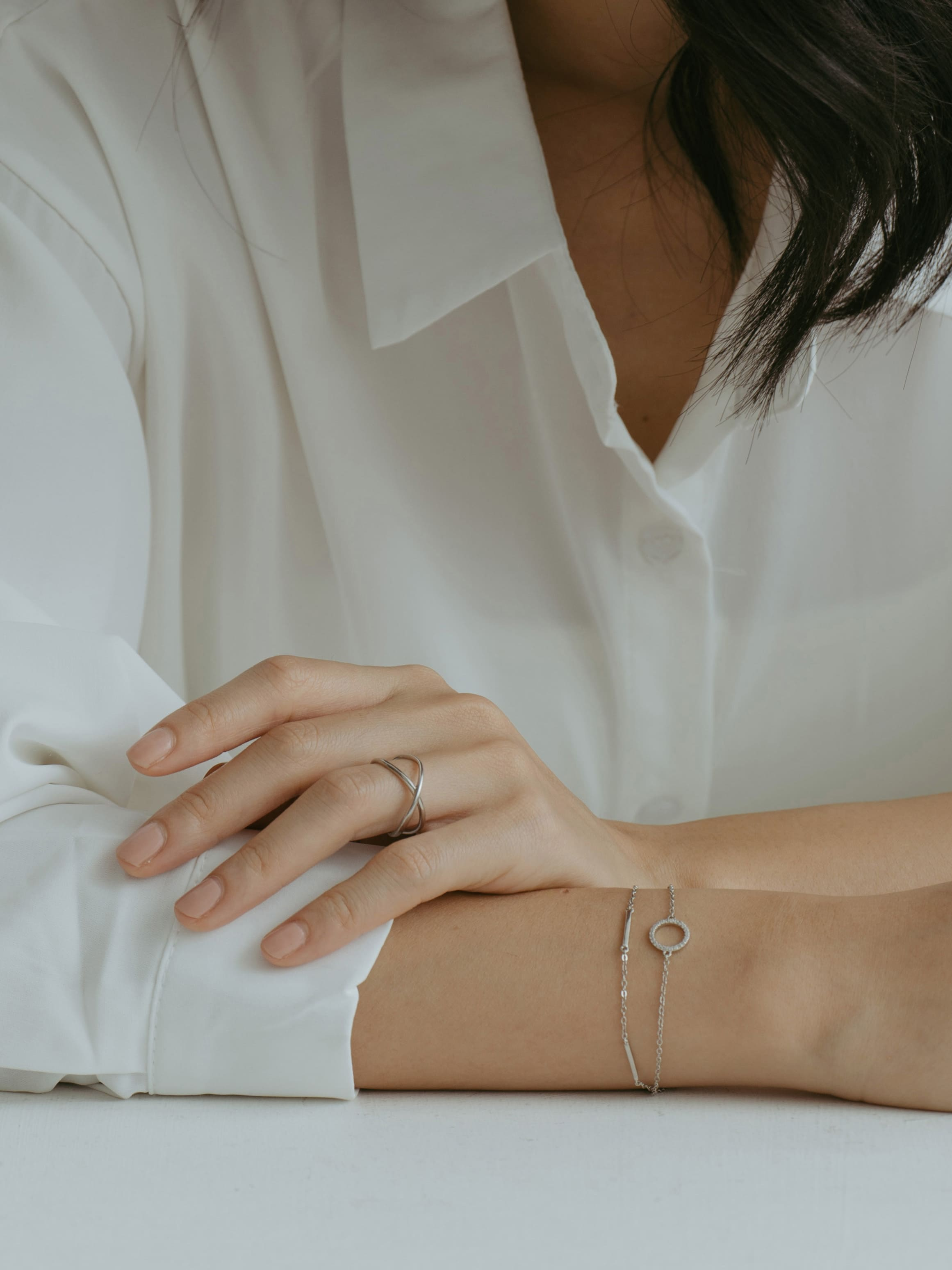 交織纏繞戒指(925銀)