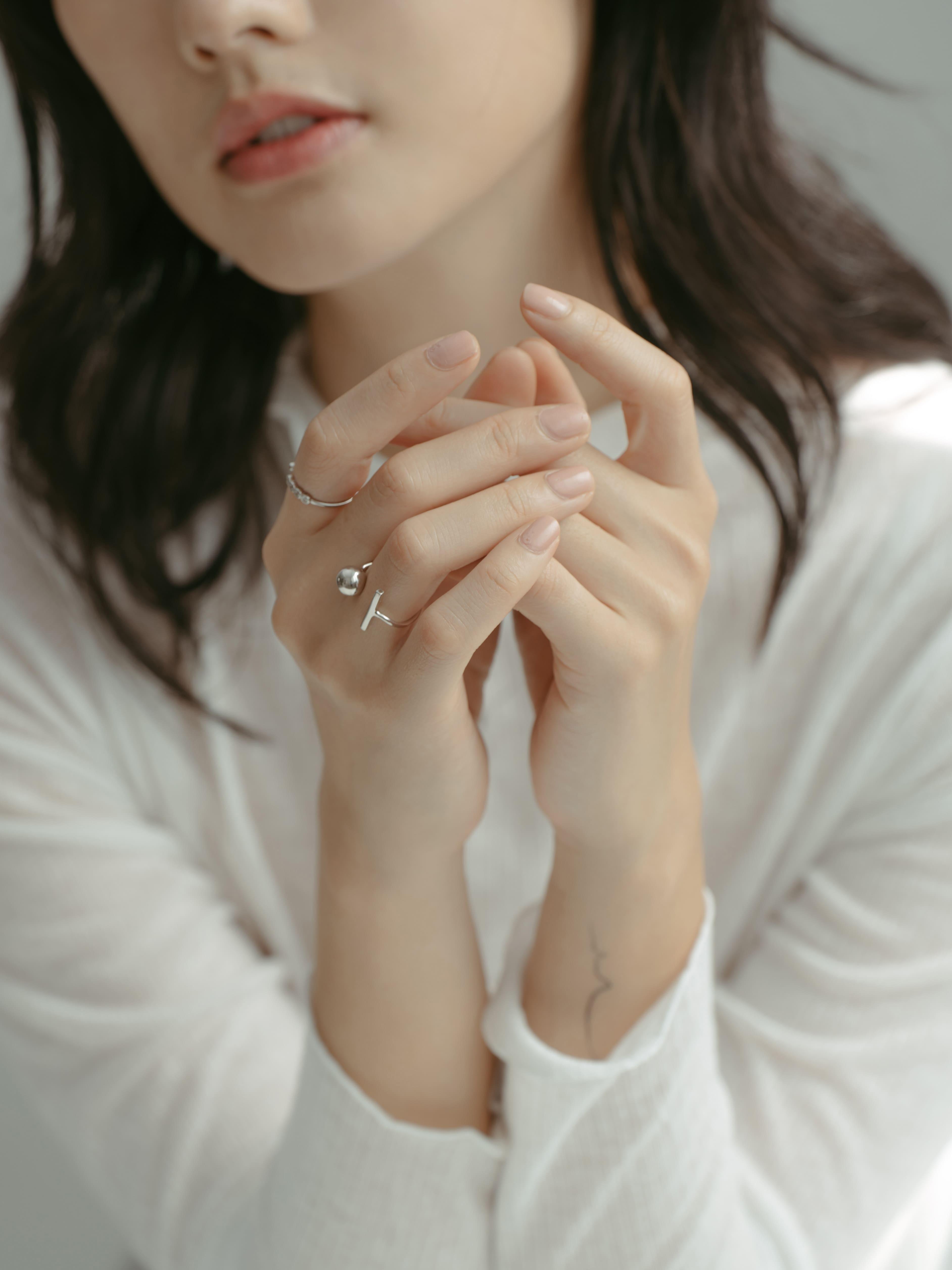 T型小圓珠戒指(925銀)