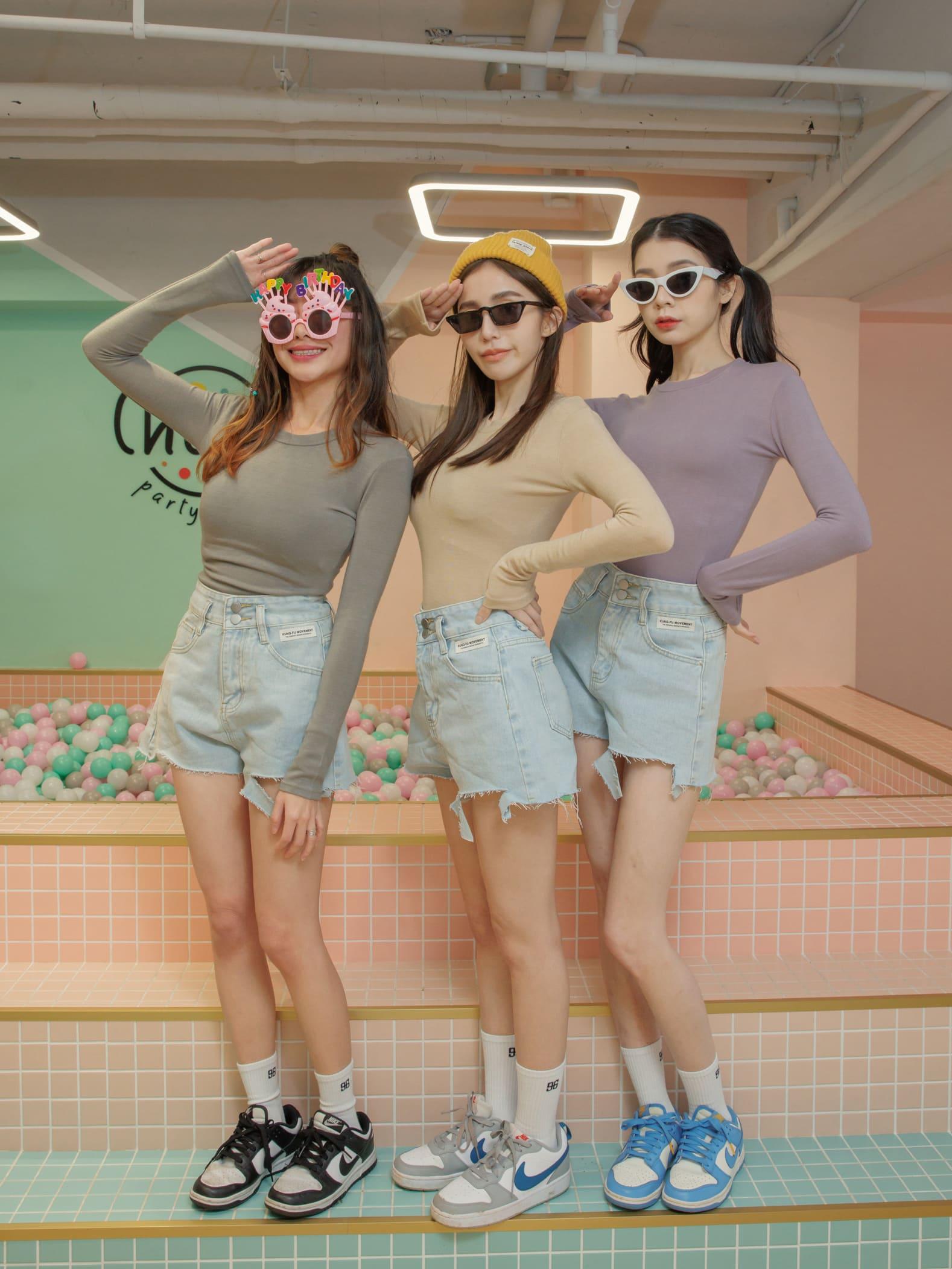 高腰夏日鬚邊短褲